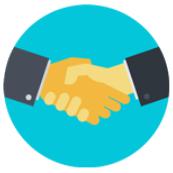 icon handshake large