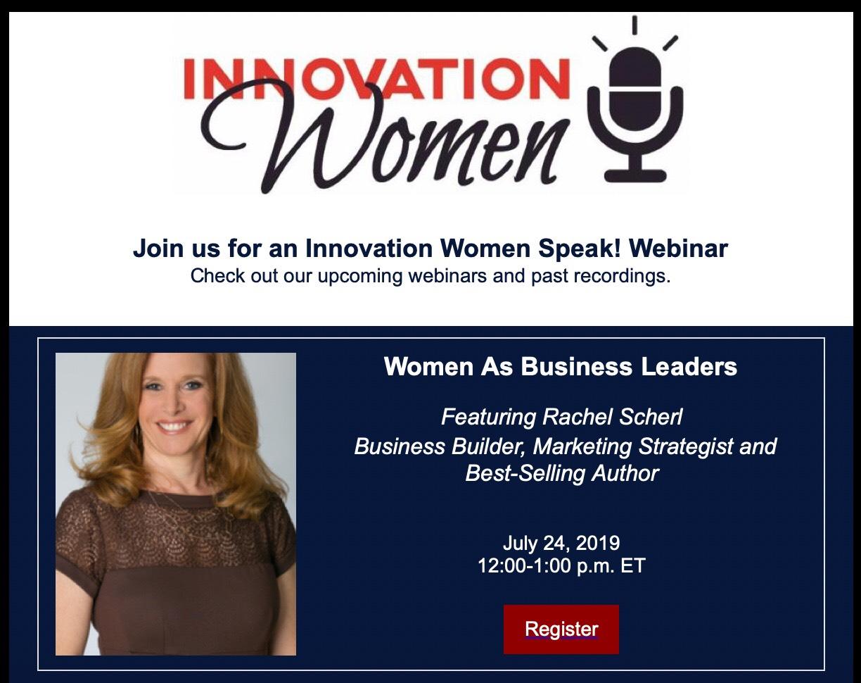 innovation women rachel